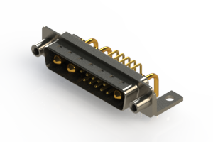 629-13W3240-1T6 - Right-angle Power Combo D-Sub Connector