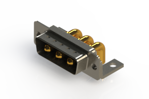 629-3W3-240-4T4 - Right-angle Power Combo D-Sub Connector