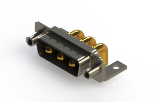 629-3W3-240-4T6 - Right-angle Power Combo D-Sub Connector