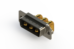 629-3W3-240-4TA - Right-angle Power Combo D-Sub Connector