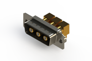 629-3W3-240-5NA - Right-angle Power Combo D-Sub Connector