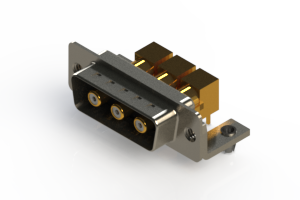629-3W3-240-5NB - Right-angle Power Combo D-Sub Connector