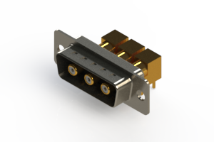 629-3W3-240-5T1 - Right-angle Power Combo D-Sub Connector