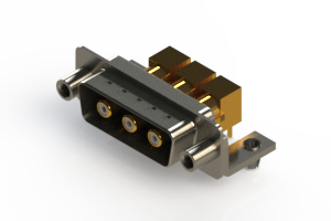 629-3W3-240-5TD - Right-angle Power Combo D-Sub Connector