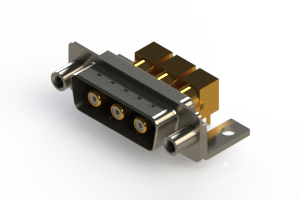 629-3W3-240-5TE - Right-angle Power Combo D-Sub Connector