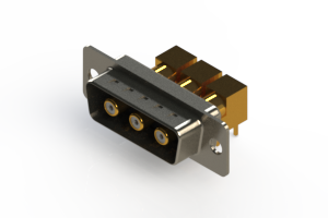 629-3W3-240-7N1 - Right-angle Power Combo D-Sub Connector