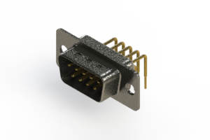 629-M09-640-WT1 - Right Angle D-Sub Connector