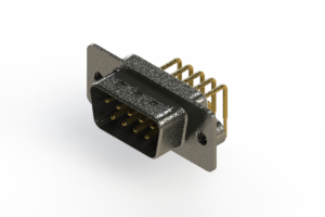 629-M09-640-WT2 - Right Angle D-Sub Connector