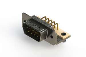 629-M09-640-WT3 - Right Angle D-Sub Connector