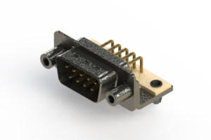 629-M09-640-WT5 - Right Angle D-Sub Connector
