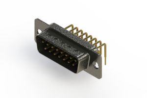 629-M15-640-BN1 - Right Angle D-Sub Connector
