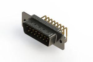 629-M15-640-BN2 - Right Angle D-Sub Connector