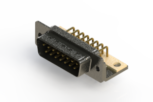 629-M15-640-BN4 - Right Angle D-Sub Connector