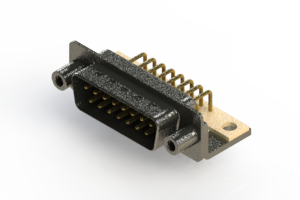 629-M15-640-BN6 - Right Angle D-Sub Connector