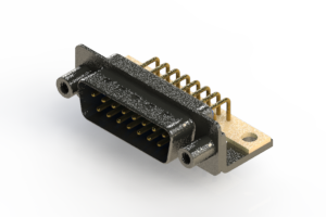 629-M15-640-LN6 - Right Angle D-Sub Connector