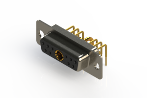 630-11W1240-1N1 - Right-angle Power Combo D-Sub Connector