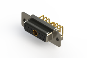 630-11W1240-1N2 - Right-angle Power Combo D-Sub Connector