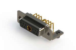 630-11W1240-1N3 - Right-angle Power Combo D-Sub Connector