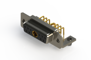 630-11W1240-1NB - Right-angle Power Combo D-Sub Connector