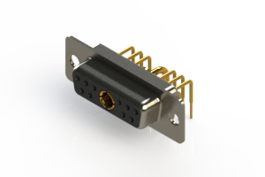 630-11W1240-1T1 - Right-angle Power Combo D-Sub Connector