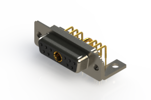630-11W1240-1T4 - Right-angle Power Combo D-Sub Connector