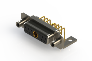 630-11W1240-1TE - Right-angle Power Combo D-Sub Connector