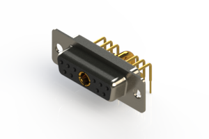 630-11W1240-2N1 - Right-angle Power Combo D-Sub Connector