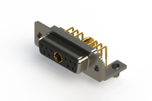 630-11W1240-2N3 - Right-angle Power Combo D-Sub Connector