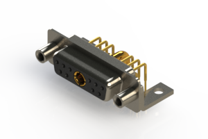 630-11W1240-2N6 - Right-angle Power Combo D-Sub Connector