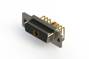 630-11W1240-2TA - Right-angle Power Combo D-Sub Connector