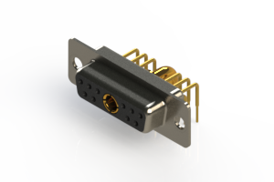 630-11W1240-3N1 - Right-angle Power Combo D-Sub Connector