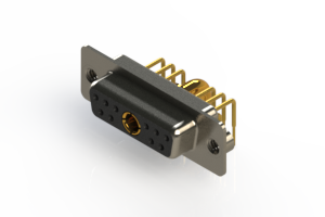 630-11W1240-3NA - Right-angle Power Combo D-Sub Connector