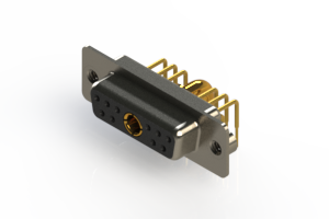 630-11W1240-3T2 - Right-angle Power Combo D-Sub Connector