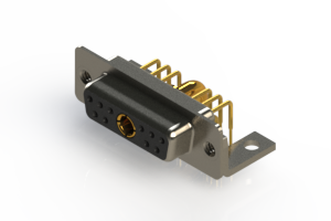 630-11W1240-3T4 - Right-angle Power Combo D-Sub Connector