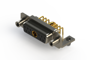 630-11W1240-3T5 - Right-angle Power Combo D-Sub Connector