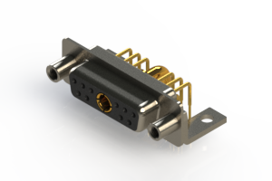 630-11W1240-3T6 - Right-angle Power Combo D-Sub Connector