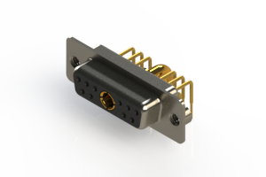 630-11W1240-3TA - Right-angle Power Combo D-Sub Connector