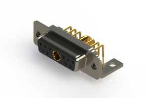 630-11W1240-3TC - Right-angle Power Combo D-Sub Connector