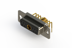 630-11W1240-4N1 - Right-angle Power Combo D-Sub Connector