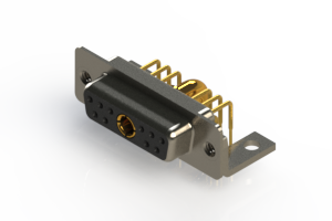 630-11W1240-4N4 - Right-angle Power Combo D-Sub Connector