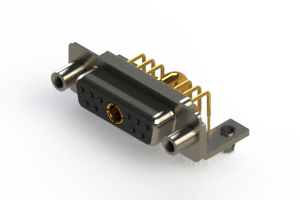 630-11W1240-4N5 - Right-angle Power Combo D-Sub Connector
