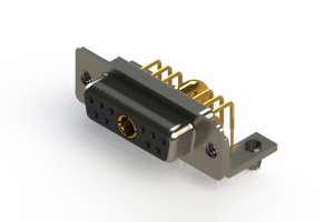 630-11W1240-4NB - Right-angle Power Combo D-Sub Connector