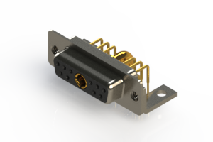 630-11W1240-4NC - Right-angle Power Combo D-Sub Connector