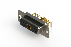 630-11W1240-4T1 - Right-angle Power Combo D-Sub Connector