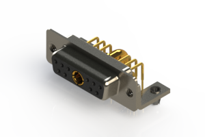 630-11W1240-4T3 - Right-angle Power Combo D-Sub Connector