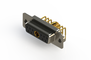 630-11W1240-4TA - Right-angle Power Combo D-Sub Connector