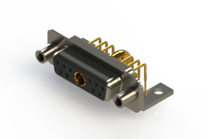 630-11W1240-4TE - Right-angle Power Combo D-Sub Connector