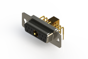 630-11W1240-5T1 - Right-angle Power Combo D-Sub Connector