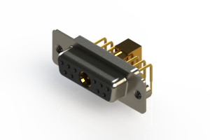 630-11W1240-5T2 - Right-angle Power Combo D-Sub Connector
