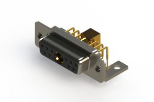 630-11W1240-7N4 - Right-angle Power Combo D-Sub Connector